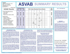 How the ASVAB (AFQT) Test is Scored - What You Really Need